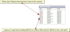 bidding history on swoopo