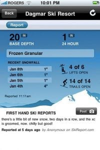 SkiReport – Know the Snow Tally Before You Hit the Slopes