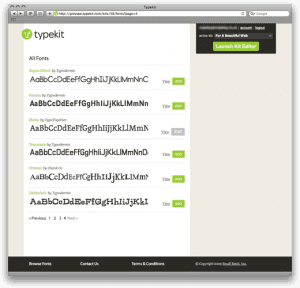 Typekit – Add Custom Fonts to Your Website w/o Graphics