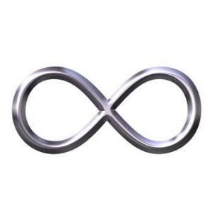 3D Silver Infinity Symbol