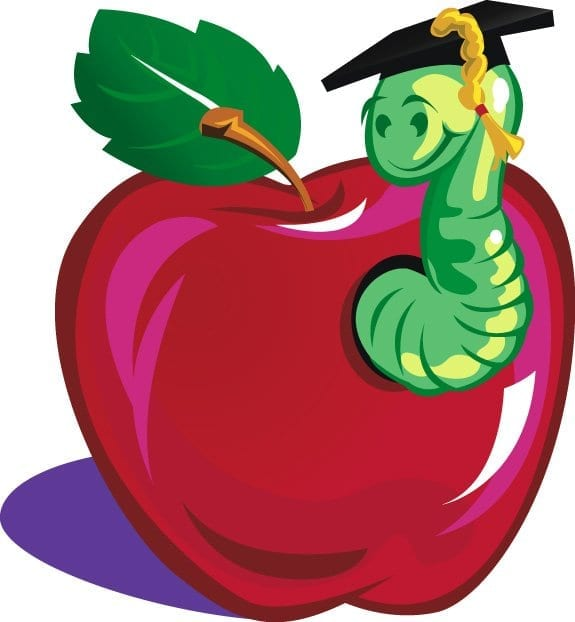 clipart apple worm - photo #41