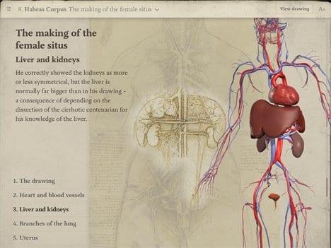 Leonardo da Vinci: Anatomy for iPad