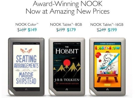 Barnes & Noble Drops Prices on Nooks